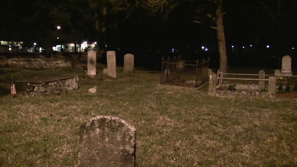 Video of a portion of the Huguenot Cemetery at night. The cemetery was established in 1821 soon after Florida became a U. S. territory. The cemetery, located just outside St. Augustine's north gate (City Gate), was first used for the interment of victims of the 1821 yellow fever epidemic and then for the burial of members of city's Protestant population. Near the end of the century, over-crowding of graves and the resulting concerns for sanitation and public health required that the small public and religious burying ground be closed. It has been left intact because the graveyard is said to be very haunted, making it a popular tourist attraction.