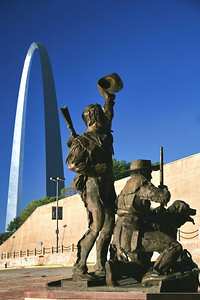 Lewis and Clark Monument at the Jefferson National Expansion Memorial; St. Louis, Missouri