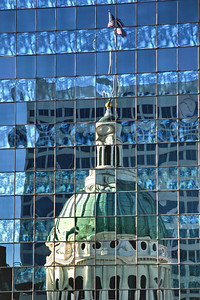 Reflected View, The Old Courthouse; St. Louis, Missouri
