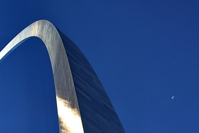 Moonrise over the Arch; Jefferson National Expansion Memorial; St. Louis, Missouri