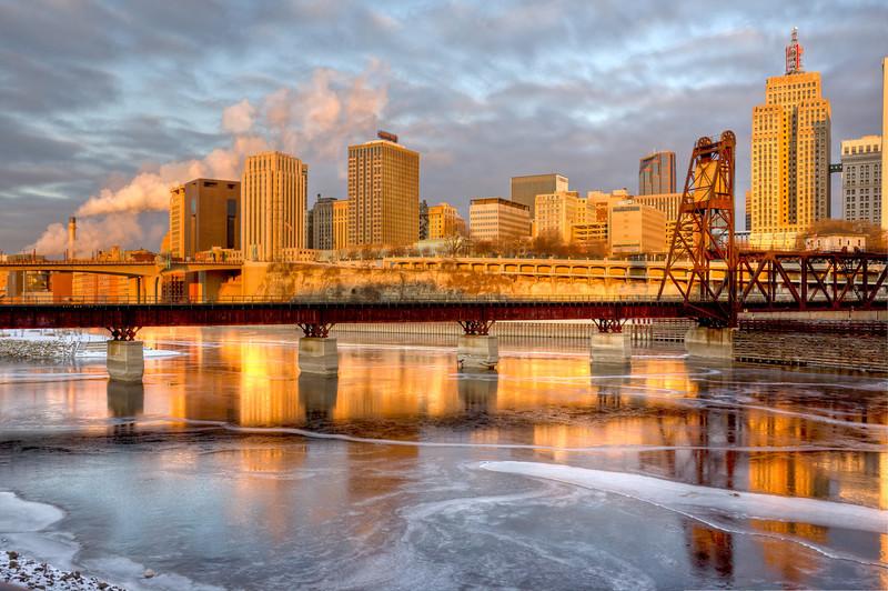 Rail Bridge on a Cold Morning
