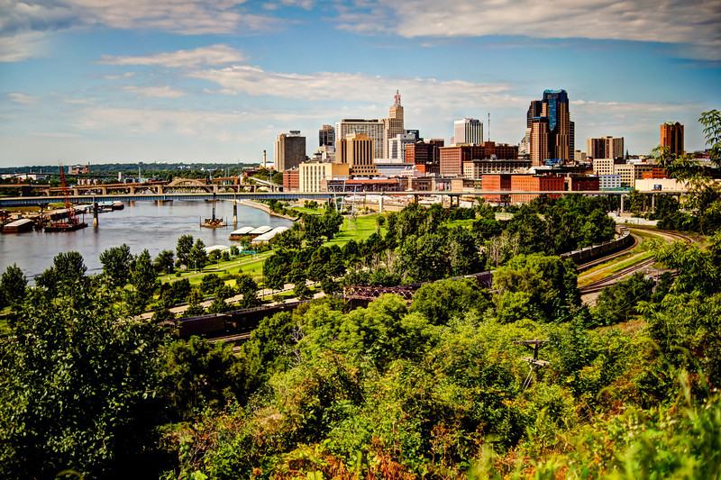 Mid Day St Paul and Mississippi River