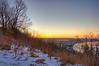 Sun Rises Behind Indian Mounds Park