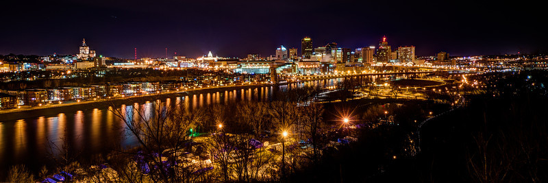St Paul Night Skyline
