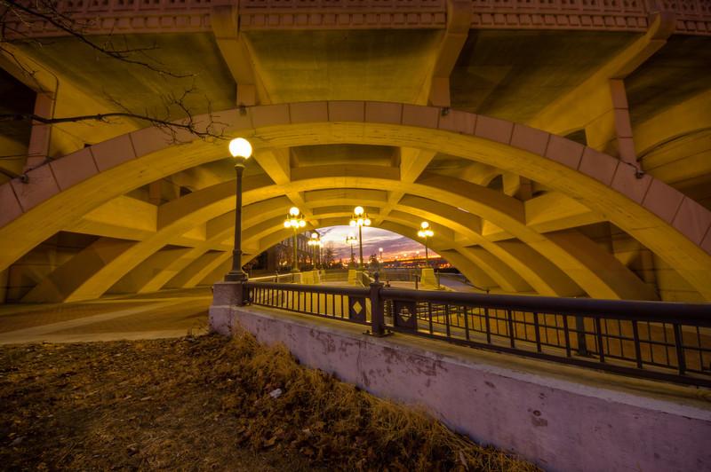 Under the Robert St Bridge