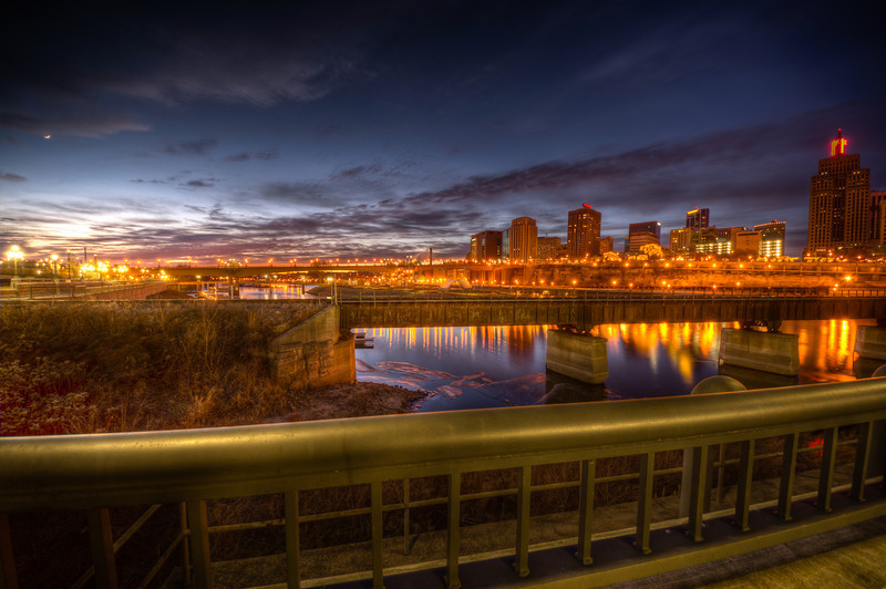Dusk in St Paul