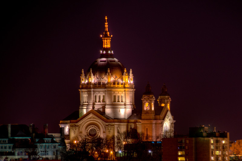Cathedral of St Paul at Night
