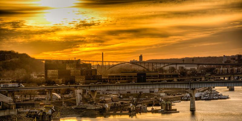 St Paul Bridges at Sunset