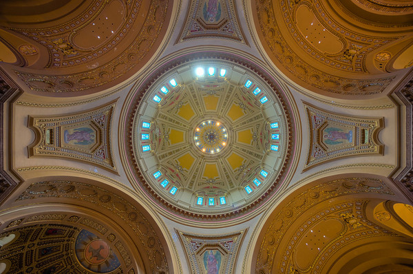 Cathedral of Saint Paul, ceiling, HDR, st paul