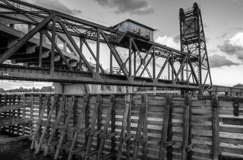 Rail Bridge Black and White