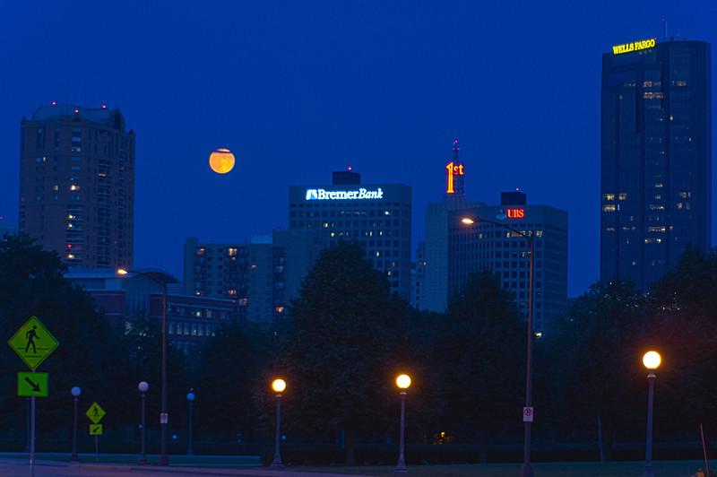 Moon Over St Paul