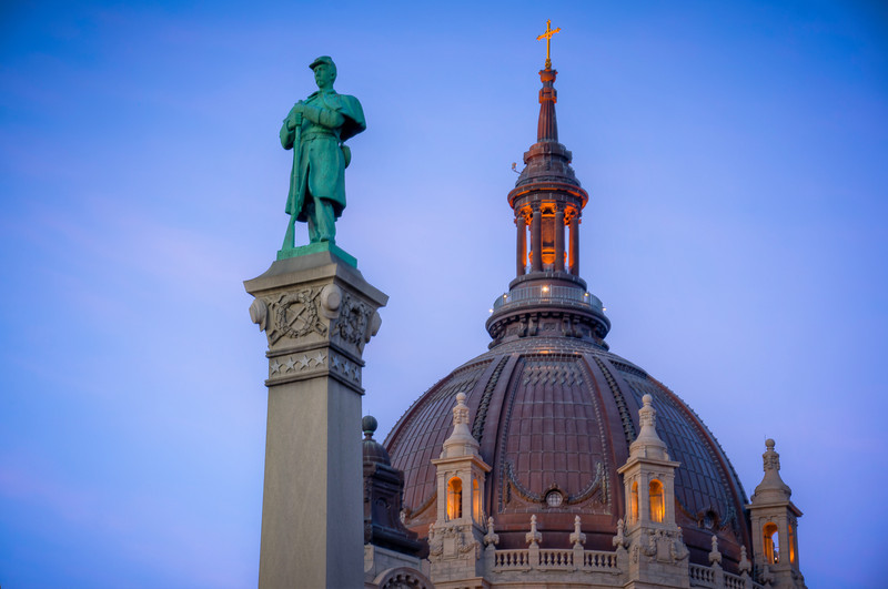 Statue and Cathedral Dome