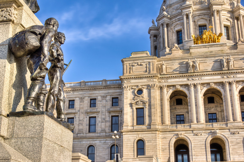 Capitol Statue and Horses