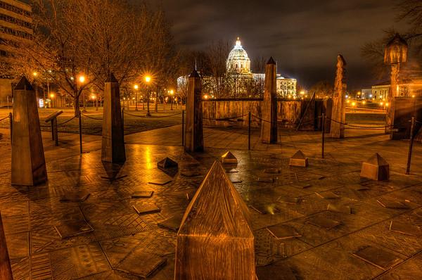 Spiral of Justice, Roy Wilkins Memorial, Minnesota State Capitol Memorials, Saint Paul, St. Paul
