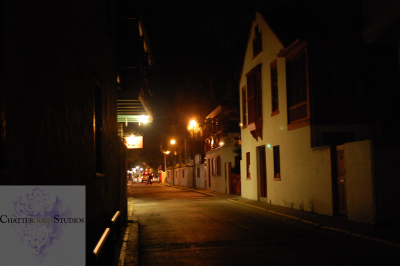 Spooky yet sultry historical streets of St.Augustine. This Image is © Tricia Chatterton Goldrick/Chattergold Studios.  All Rights Reserved.  No duplication without permission (see commercial downloads).  This image may be downloaded from this website for blogging purposes only.