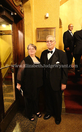 Ken & Barb Klabunde at the State Theatre, in front of the plaque dedicated to him, Easton, PA 6/24/17