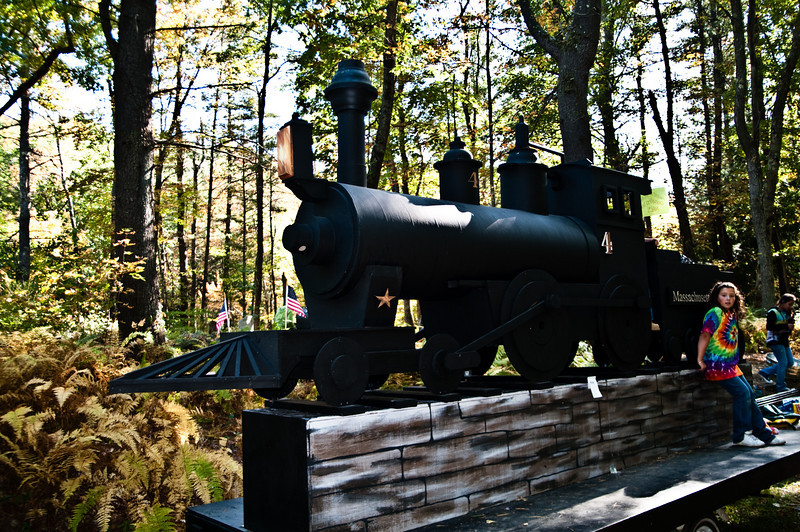 Model Steam engine for celebration day