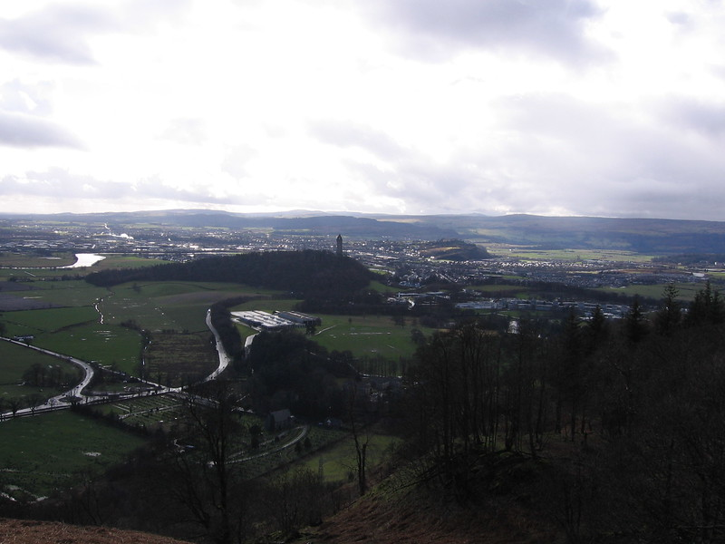 View over Stirling from Sheriffmuir.<br /> 3rd March 2007.