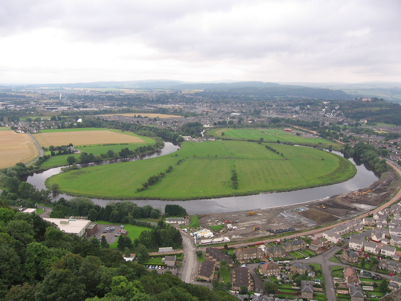 Stirling from the Wallace Monument.<br /> 14th August 2007.