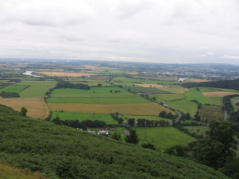 View from Sheriffmuir over Stirling.<br /> 14th August 2007.