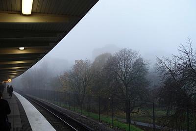 Fog settles over Hägerstensåsen