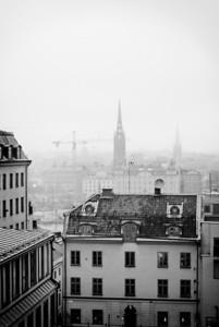Dimma över Stockholm