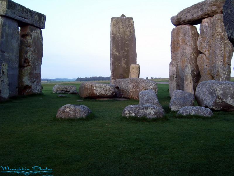 Inside Stonehenge.