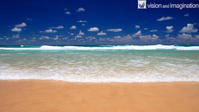 Blue lake beach stradbroke island