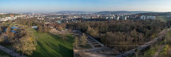 Panoramablick vom Killesbergturm / Panoramic view from Killesberg-Tower