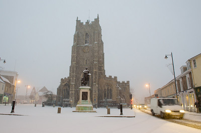 Sudbury Town in the snow, January 2010