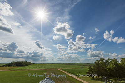 Blue Skies over Green Farmlands