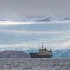 Freya Dwarfted by Glacier