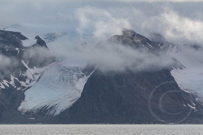 Glacier in the Clouds