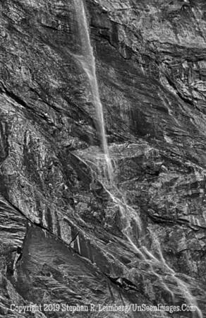 Water Arching B&W Waterfall and Mushroom_110823_9159_HDR