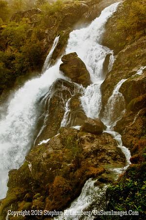 Water over Rocks Grip and Briksdalen Glacier_110825_9366