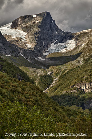 Mountain From Glacier Grip and Briksdalen Glacier_110825_9474_HDR