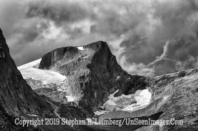Mountain Top B&W GLACIER AND BERGEN_110825_1369_HDR