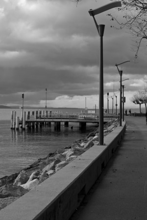 Switzerland, Lausanne, Pier SNM