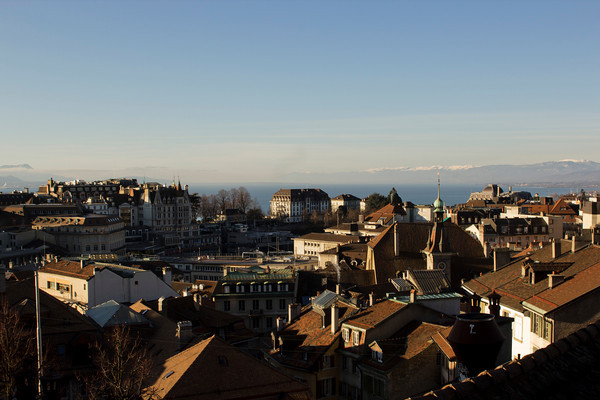 Switzerland, Lausanne, City View SNM
