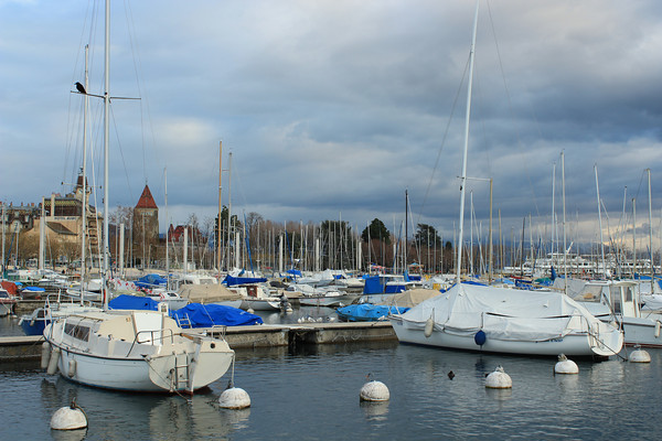 Switzerland, Lausanne, Ouchy Port