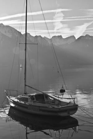 Switzerland, Montreux, Boat SNM