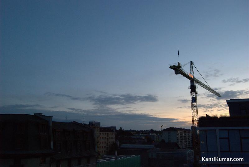 Sun rises on our last day in Geneva