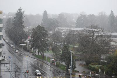 Snow in Geneva