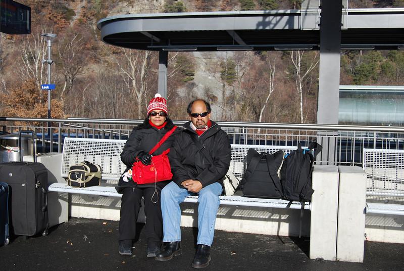 Maitreyee & Kanti at Leuk station