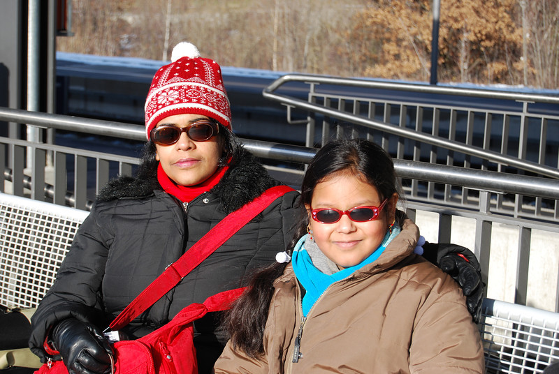 Maitreyee & Sohini at Leuk station