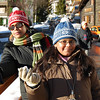 All posed: Maitreyee & Sohini on Leukerbad street