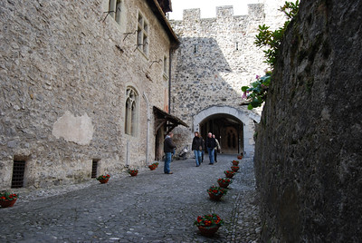 Chillon Castle - the passageway