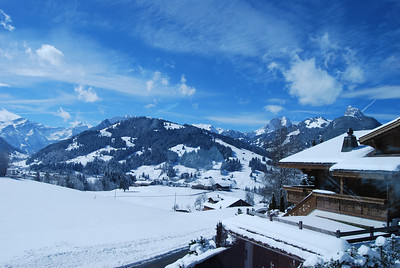 Snow and blue sky - Swiss landscape