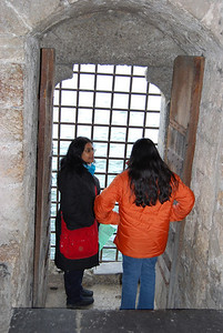 Chillon Castle - taking a view through the postern