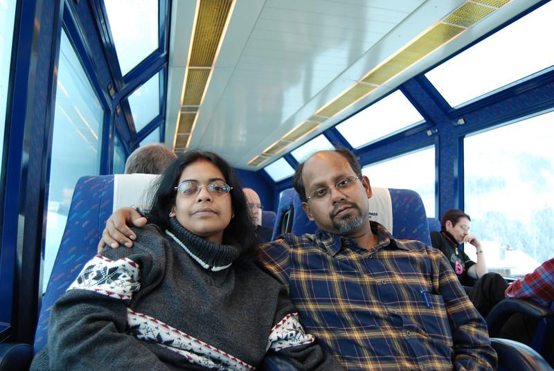 Aboard GoldenPass train
